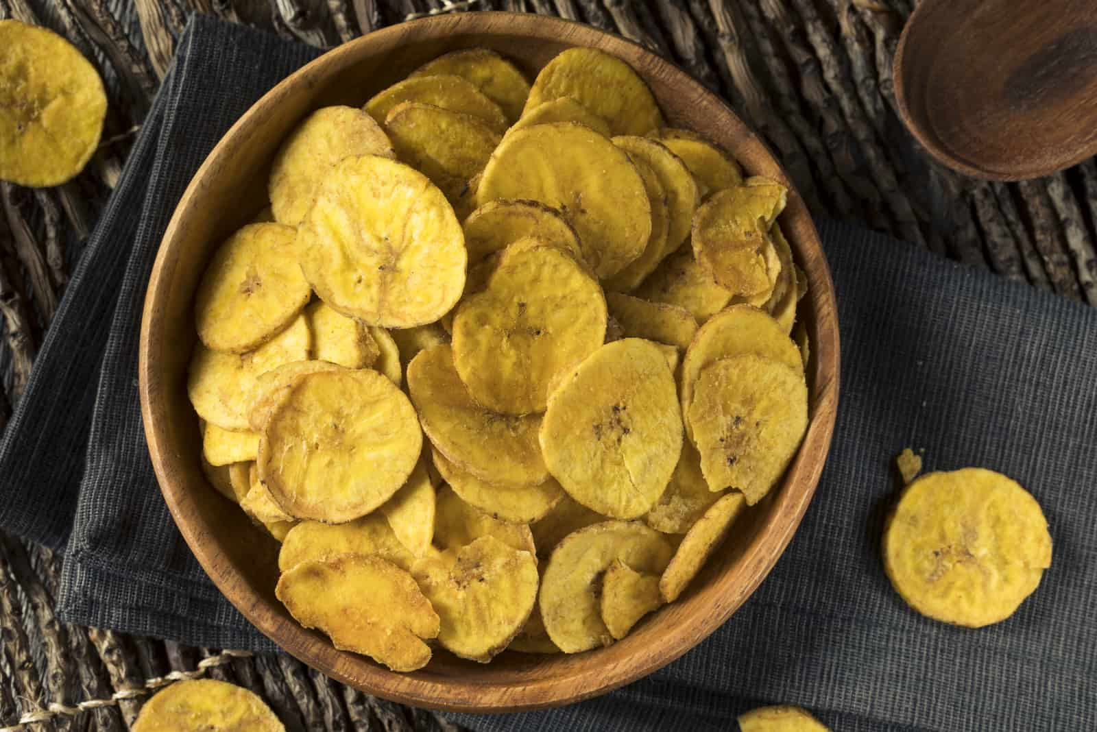 dried plantain in a bowl