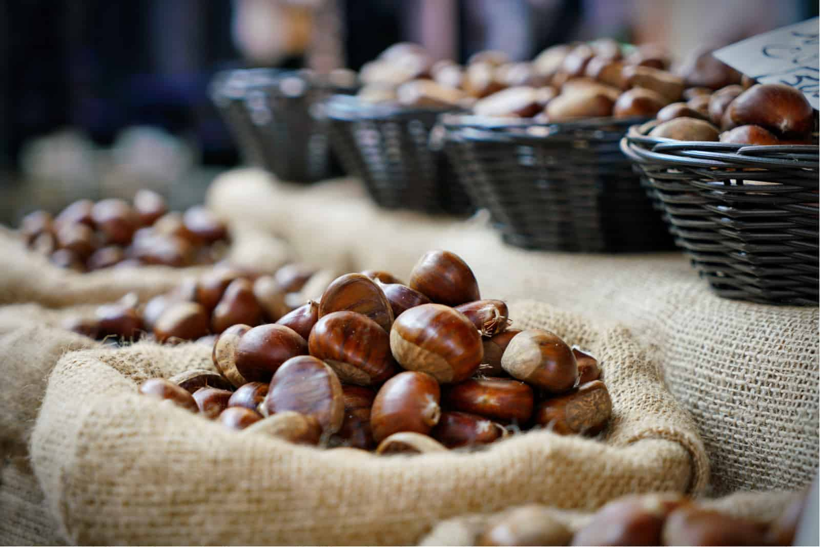 bags full of chestnuts