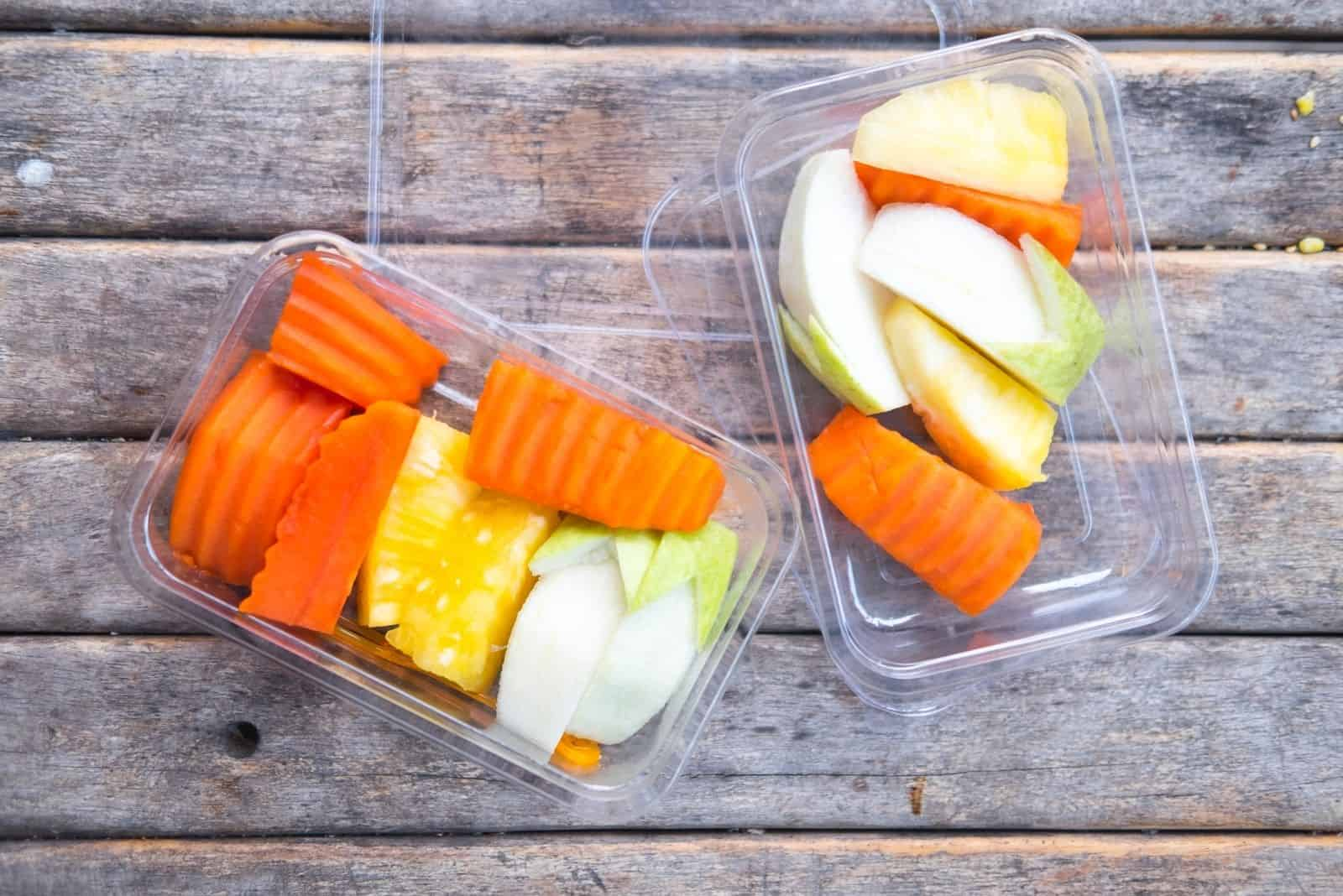 healthy cuts treats in a clear container